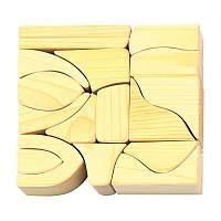 Конструктор nic деревянный маленький натуральный 17 эл. NIC523284