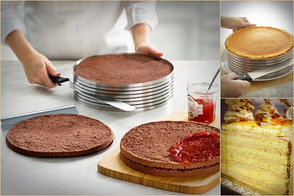 Кольцо раздвижное для нарезки бисквита от 15 см до 20 см, фото 2