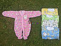 Человечек для новорожденного розовый (хлопок 100%, кулир) 56-62 р-р, фото 1