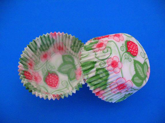 Тарталетки (капсулы) бумажные для кексов, капкейков  Клубника, фото 2
