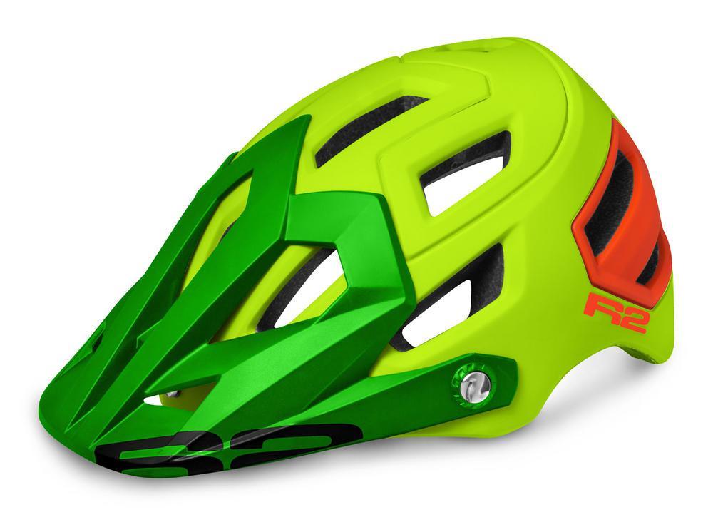 Шлем R2 Trail желтый-красный