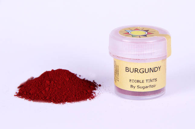 Краска сухая для цветов Sugarflair Бордовый, фото 2