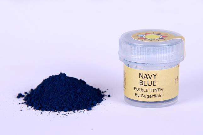 Краска сухая для цветов Sugarflair темно синий, фото 2