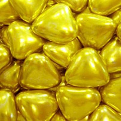 Посыпка кондитерская Сердечки золото,  50 грамм