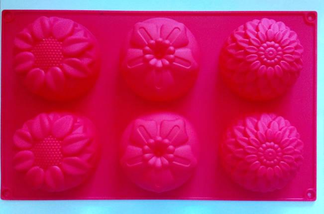 Форма силиконовая цветы ассорти2 на планшете, фото 2