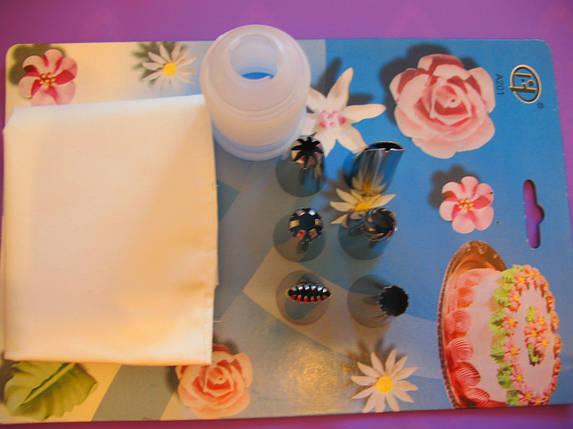 Мешок кондитерский с металлическими насадками большой, фото 2