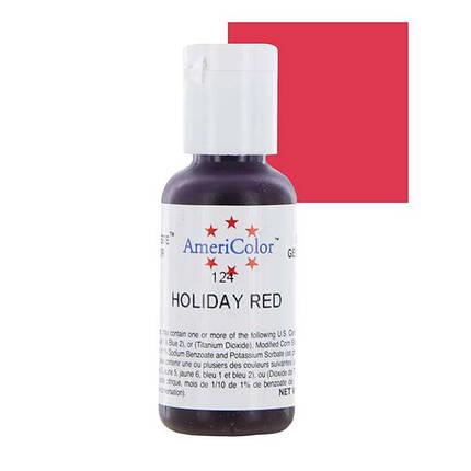 Краситель гелевый Americolor Праздничный красный (Holiday red), фото 2