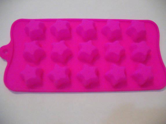 Форма силикон для конфет Звезды, фото 2