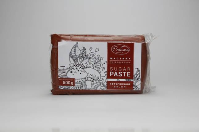 Мастика для тортов Criamo обтяжка 0.5 кг Коричневая, фото 2