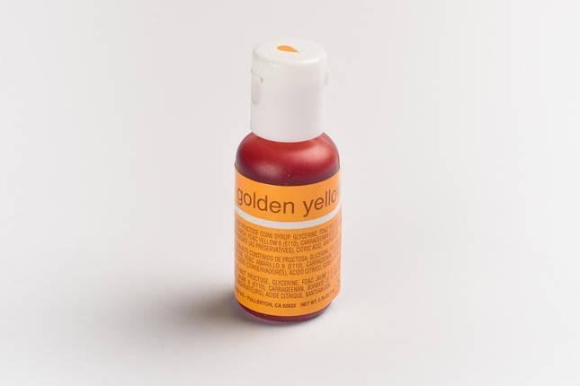 Гелевый краситель Chefmaster Яично-желтый (Golden Yellow ) 21 грамм, фото 2