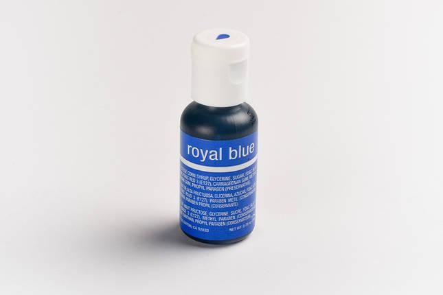 Гелевый краситель Chefmaster Королевский синий ( Royal Blue) 21 грамм, фото 2