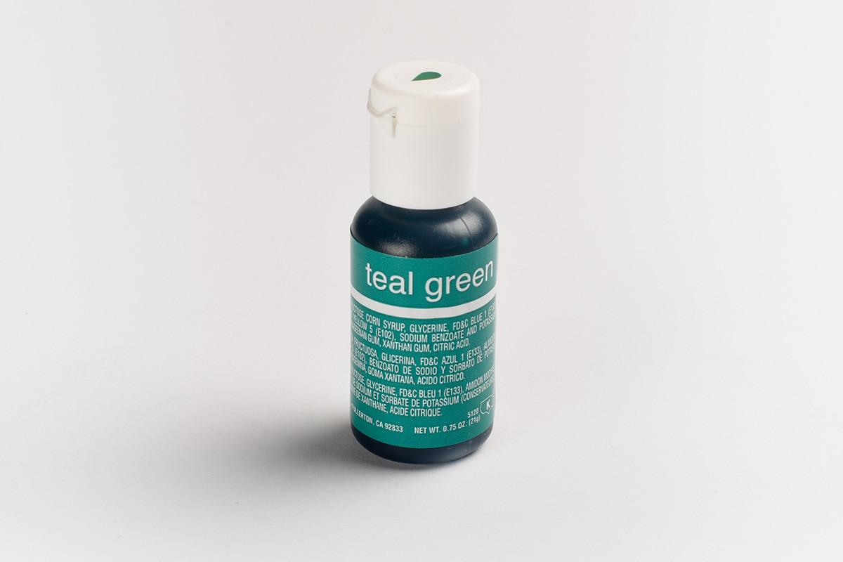 Гелевый краситель Chefmaster Морская волна (Teal Green ) 21 грамм