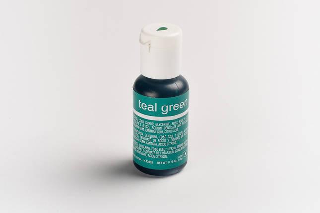 Гелевый краситель Chefmaster Морская волна (Teal Green ) 21 грамм, фото 2