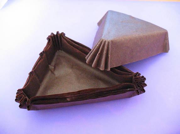 Тарталетки (капсулы) бумажные для десертов Коричневые (102*78*25 мм), фото 2