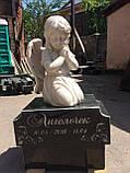 Ангелы из мрамора. Скульптура Ангела девочки № 88 из литьевого мрамора 50 см, фото 6