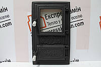 Дверцы печные со стеклом «Квадрат» 310х510. Дверцы для печи кухни барбекю