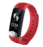 CD01 Фитнес браслет HD дисплей ЭКГ тонометр, пульсометр для iPhone Android, трекер калорий, сон, бег, красный