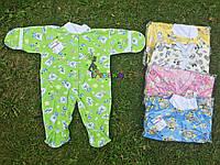Человечек для новорожденного (хлопок 100%, кулир) 56-62 р-р, салатовый, фото 1