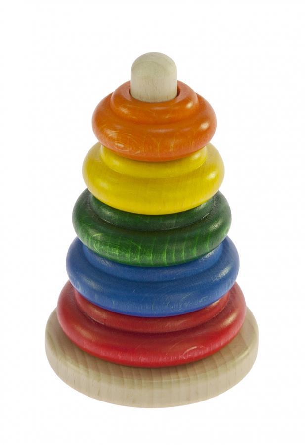 Пирамидка nic деревянная Классическая разноцветная NIC2310