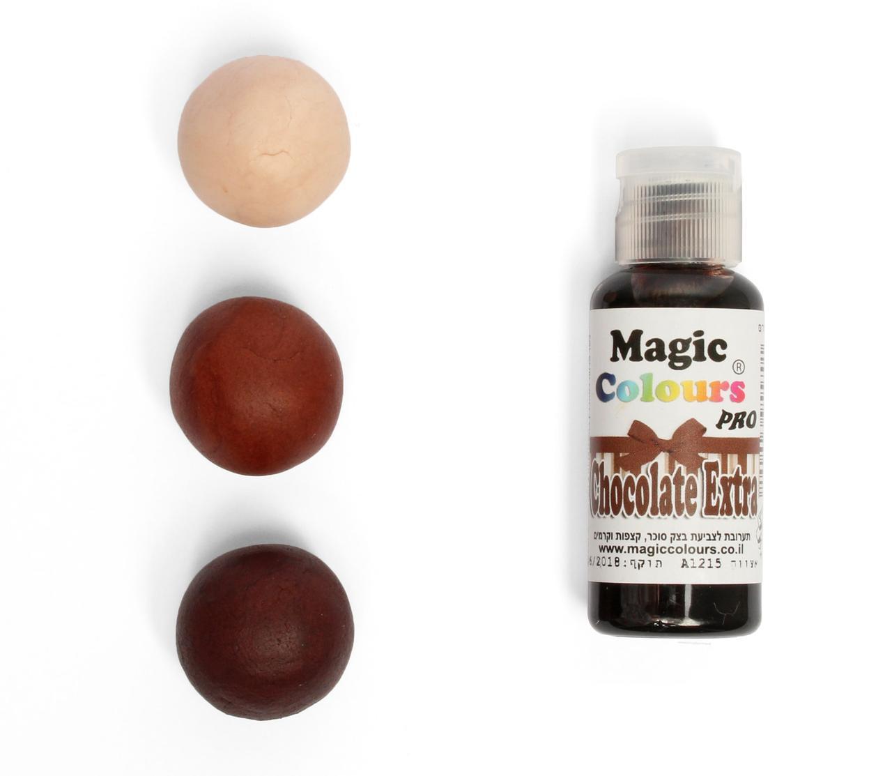 Гелевый краситель Magic Colours Шоколадно - коричневый (Chocolate Extra) 32 грамма