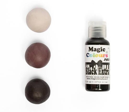 Гелевый краситель Magic Colours Супер черный (Black Extra) 32 грамма, фото 2