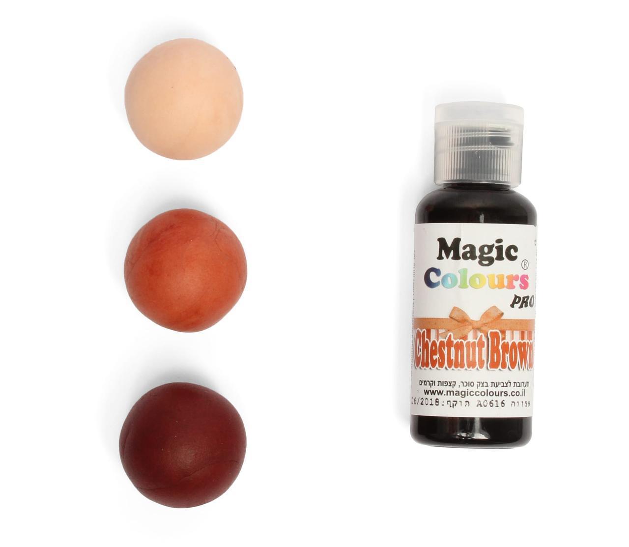 Гелевый краситель Magic Colours  Коричневый каштан (Chestnut brown) 32 грамма