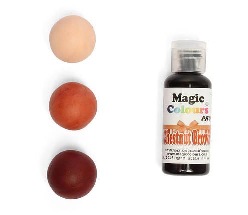 Гелевый краситель Magic Colours  Коричневый каштан (Chestnut brown) 32 грамма, фото 2