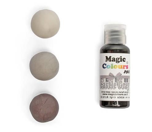 Гелевый краситель Magic Colours Серый (Castle Grey) 32 грамма, фото 2