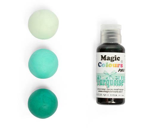 Гелевый краситель Magic Colour Бирюзовый  (Turquoise) 32 грамма, фото 2