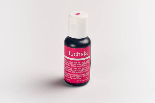 Гелевый краситель Chefmaster Фуксия ( Fuchsia) 21 грамм, фото 2