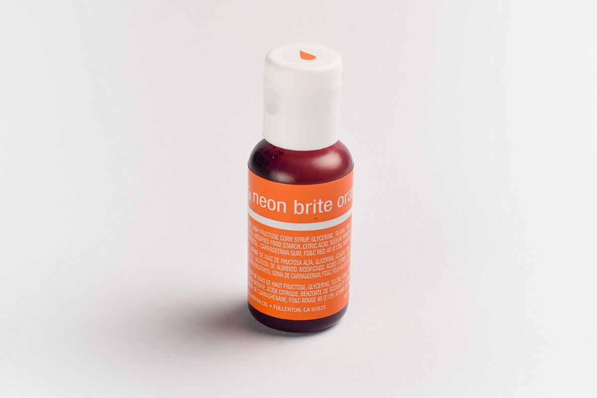 Гелевый краситель Chefmaster Электрический оранжевый (Neon Brite Orange) 21 грамм