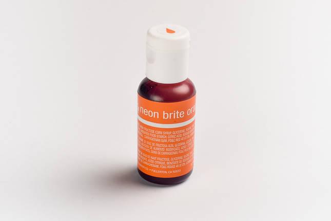 Гелевый краситель Chefmaster Электрический оранжевый (Neon Brite Orange) 21 грамм, фото 2