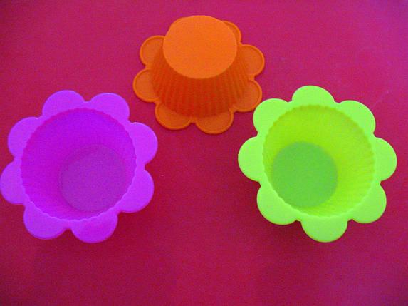 Форма силиконовая для кекса порционная Ромашка (6 шт.), фото 2