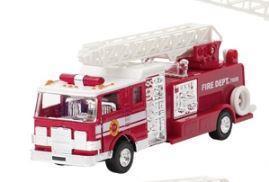 Машинка металлическая goki Пожарная машина Бочка с лесницей красная 12115G-4