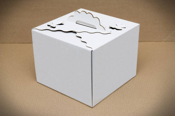 Картонная коробка для торта Бабочка 3 штуки (250*250*200 мм), фото 2