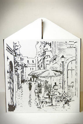 Картонная коробка для торта с Рисунком 3 штуки (300*300*300 мм), фото 2