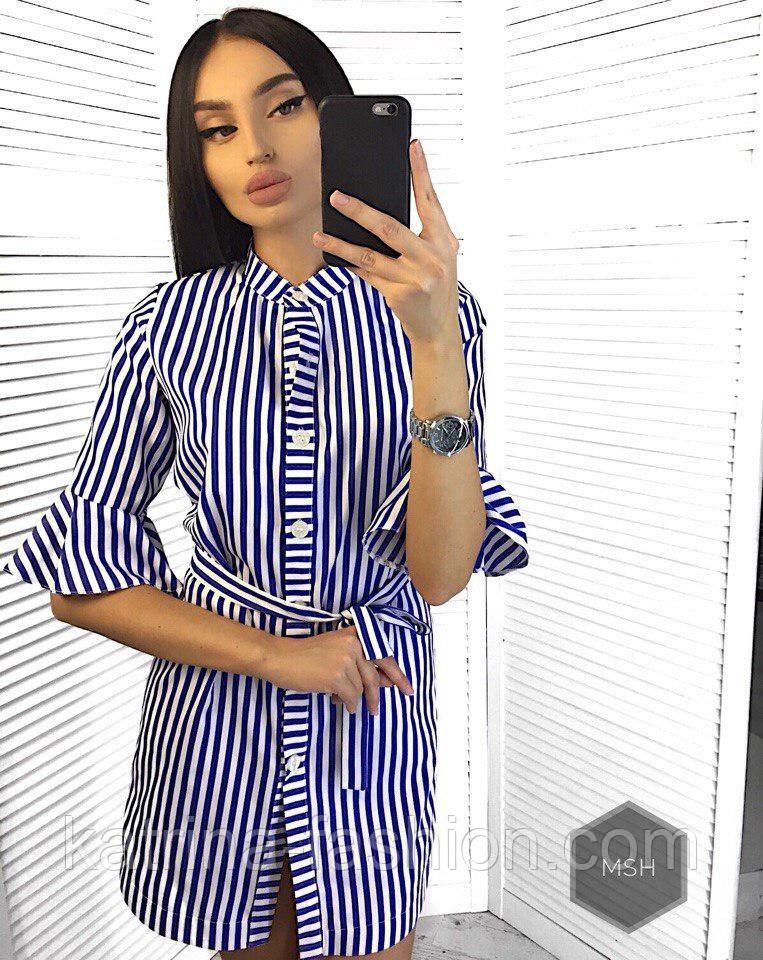 67015750bfe Женская рубашка-туника в полоску - KATRINA FASHION - оптовый  интернет-магазин женской одежды