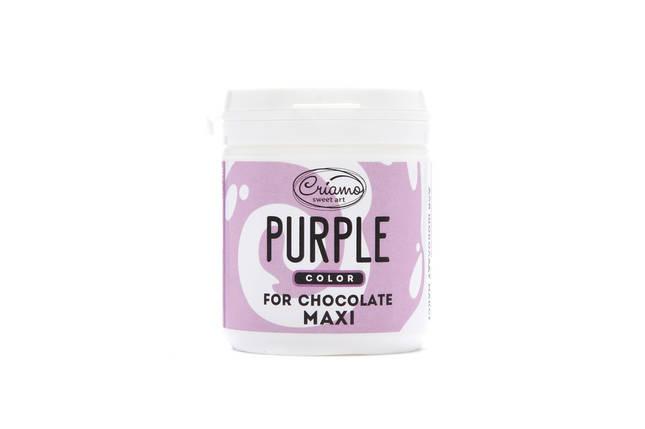Пастообразный пищевой краситель Criamo для шоколада МАКСИ Пурпурный 160 грамм, фото 2