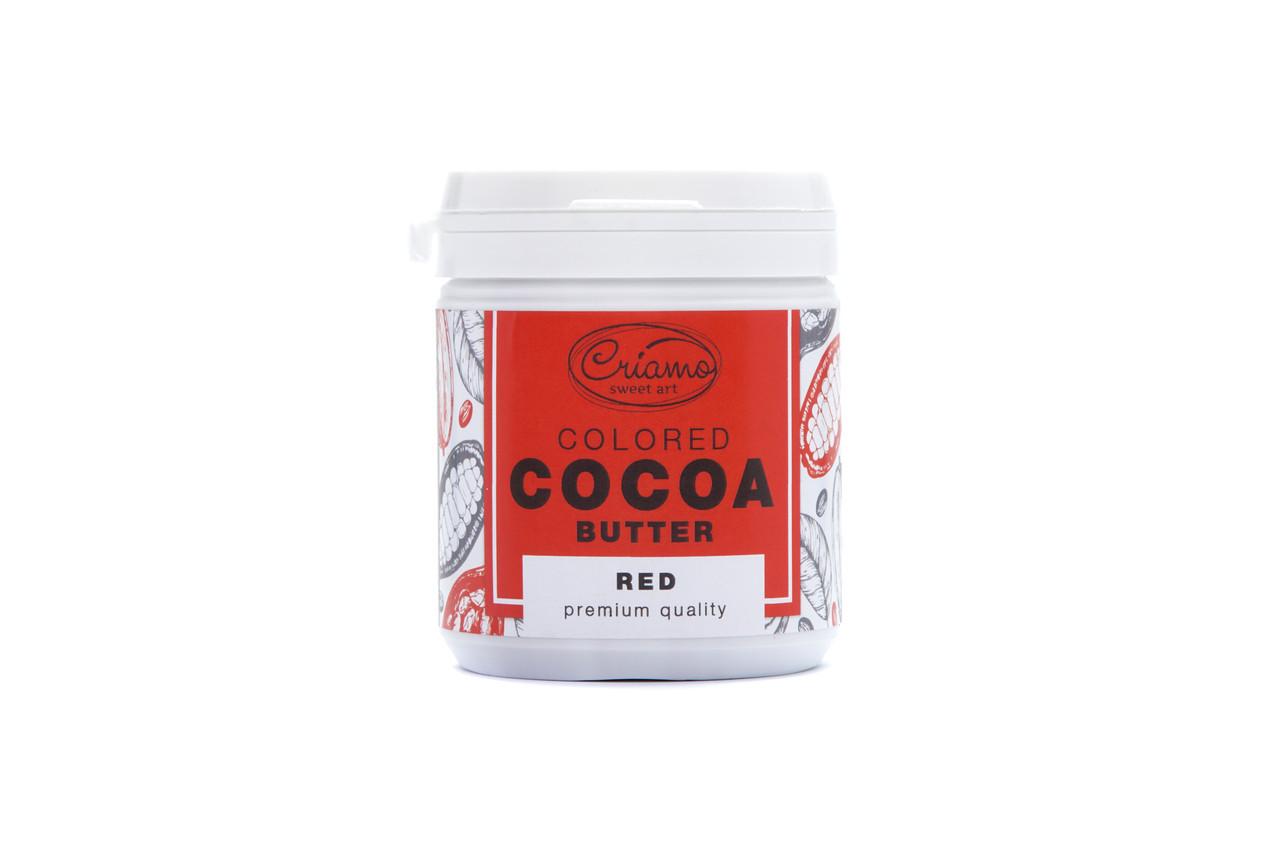 Пастообразный пищевой краситель Criamo для шоколада МАКСИ с какао маслом Красный 160 грамм