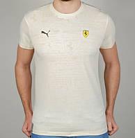 Мужская Футболка Puma Ferrari 4860 Белая