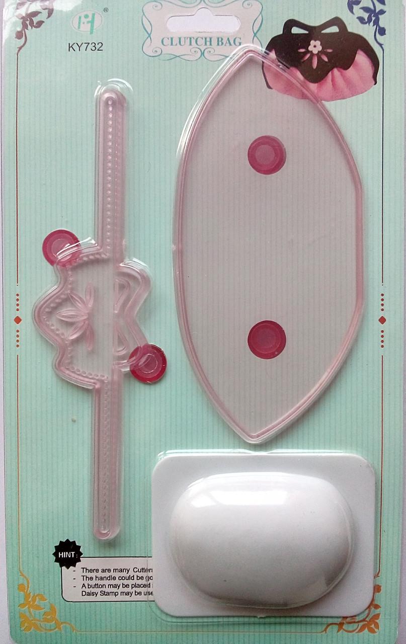 Плунжер - оттиск, выкройка для мастики Сумка