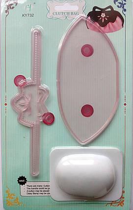 Плунжер - оттиск, выкройка для мастики Сумка, фото 2
