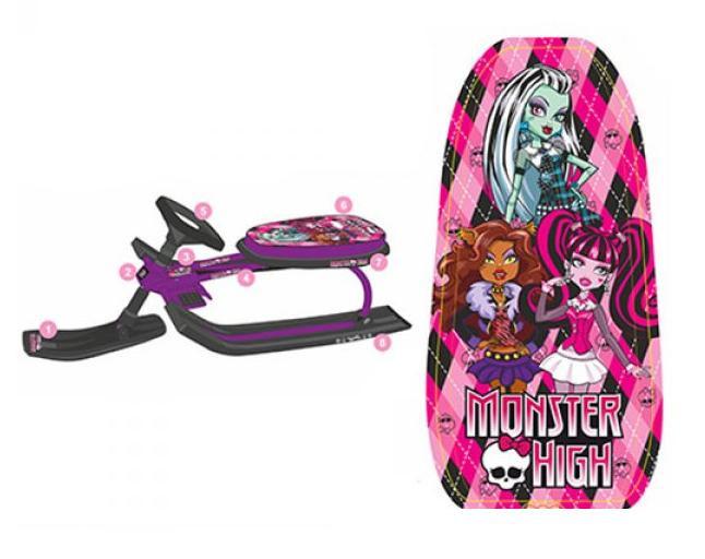 Детский снегокат MS 0896 Monster High фиолетовый