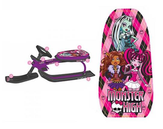 Детский снегокат MS 0896 Monster High фиолетовый, фото 2