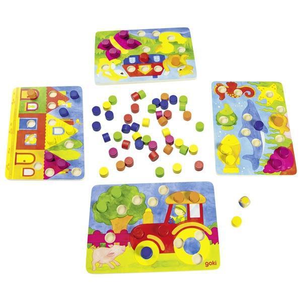 Настольная игра goki Лото Разноцветный мир 56705