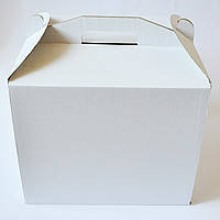 Картонная коробка для торта 3 штуки (300*300*400)