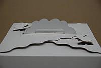 Картонная коробка для торта Бабочка 3 штуки Белые (300*300*250)