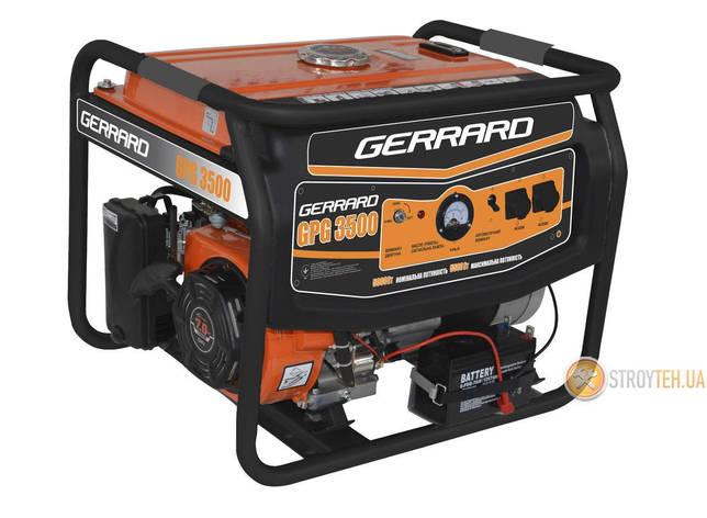 Генератор бензиновый 2,5 кВт однофазный Gerrard GPG3500, фото 2