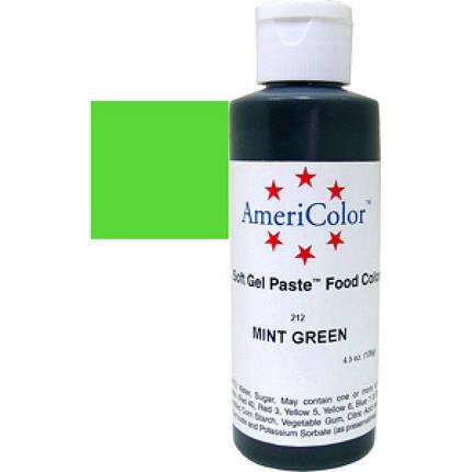 Краситель гелевый AmeriColor (Америколор)  Зеленая мята 128 г, фото 2
