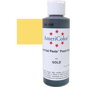 Краситель гелевый AmeriColor (Америколор)  Золотой 128 г, фото 2